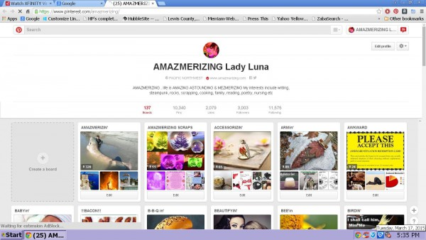 Amazmerizing screenshot cap 3000 followers Pinterest 2015